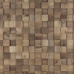 Zoom panneaux muraux type mosaïque en noyer