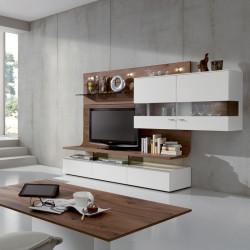 Loft deco industriel avec panneaux muraux en beton naturel