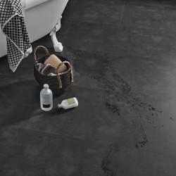 sol vinyle salle de bain aspect ardoise
